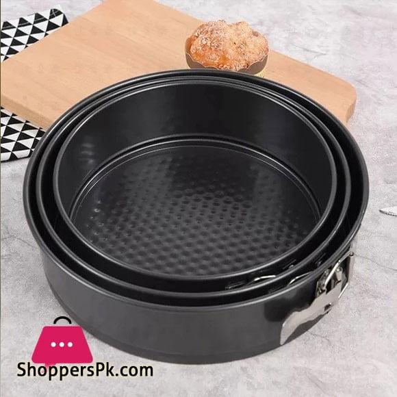 Cake Pan Set 3 Pcs Non-Stick Removable Bottom ( 18 CM ) ( 20CM ) ( 22CM ) CM