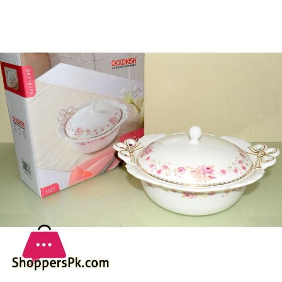 Goldkish Porceline Serving Dish Round 8 - Inch