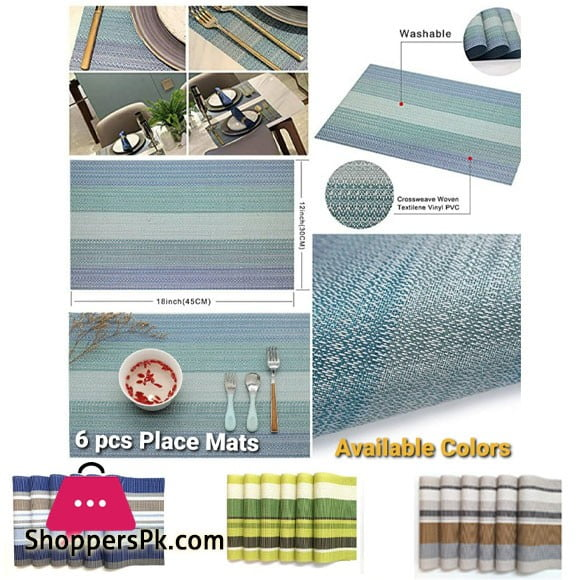 Non-Slip Dining Table Mat Waterproof (A Set Of 6)