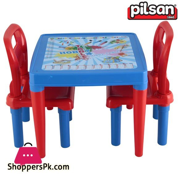 Pilsan Menekse Study Table with Two Chairs 1 to 5 Years Kids Turkey Made 03-414