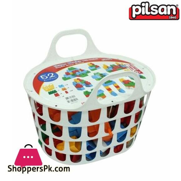 Pilsan Super Blocks in the Basket 52 Pieces Turkey Made 03 290