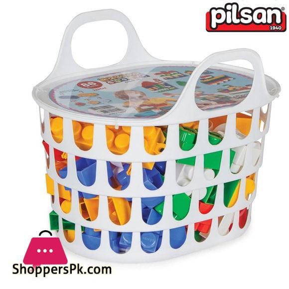 Pilsan Super Blocks in the Basket 88 Pieces Turkey Made 03-474