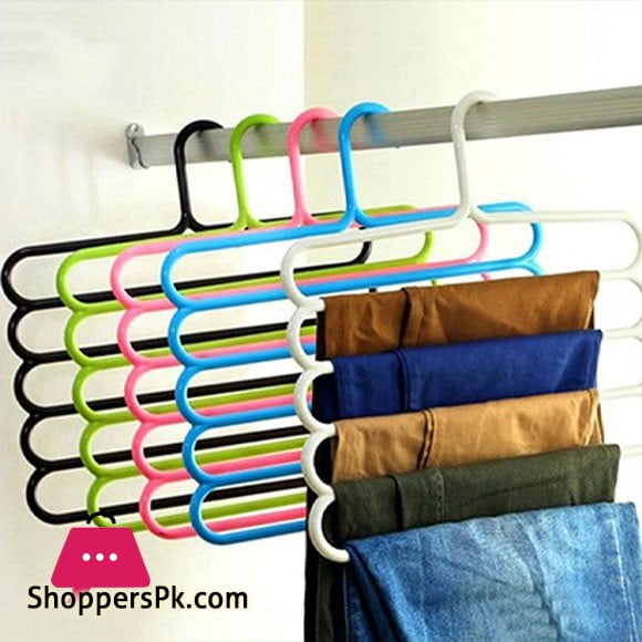 5 Layers Multipurpose Clothes Hanger Pack of 6