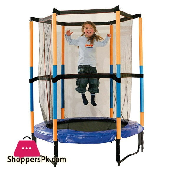 Fun Fit Trampoline With Enclosure Safety Net 4.5 Feet