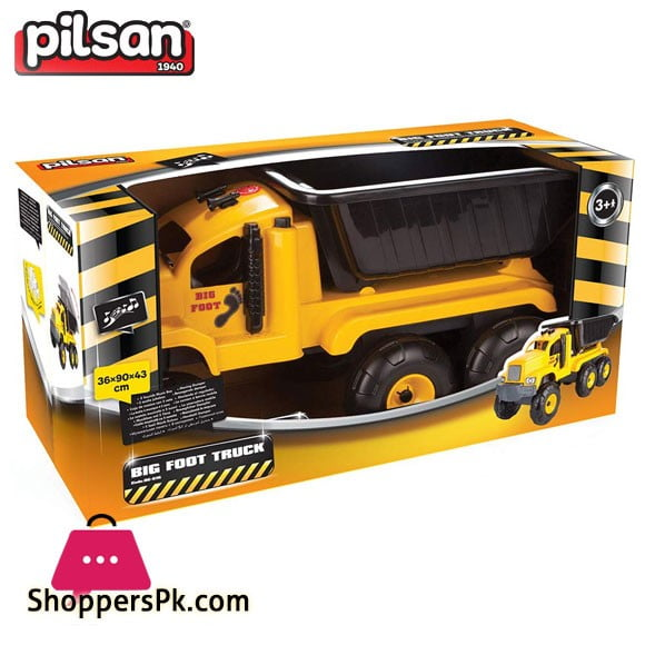 Pilsan Big Foot Toy Friction Truck Musical Turkey Made 06-616