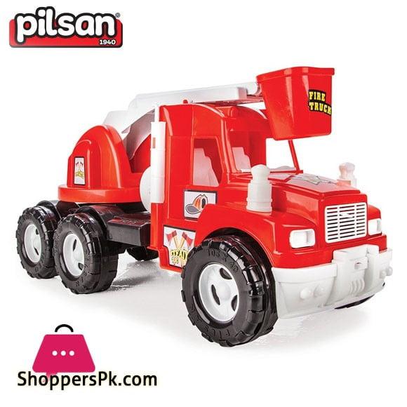 Pilsan Friction Mak Fire Truck Toy Turkey Made 06-613