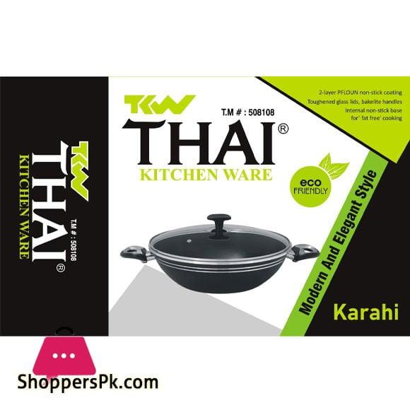 Thai Kitchen Ware Karahi Non-Stick Wok - 30 CM