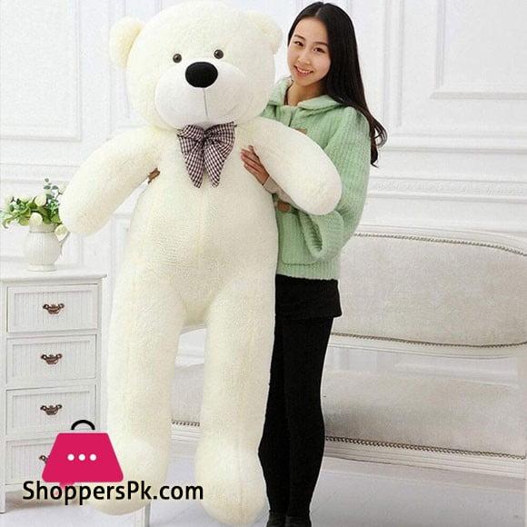 5 Feet Giant White Teddy Bear Plush Toy DIY Gift 5FTBXL