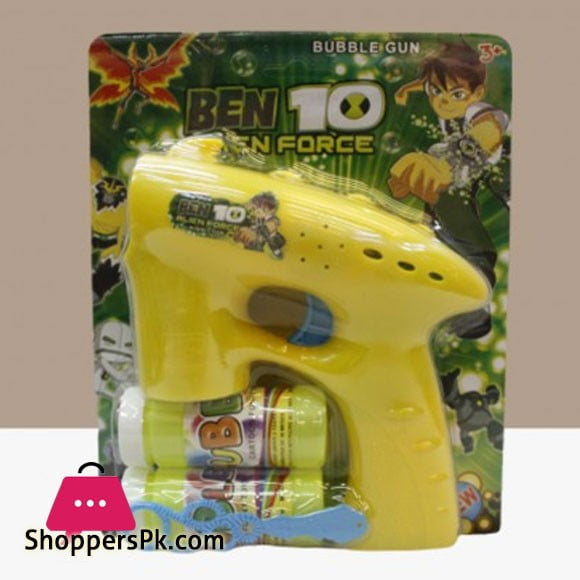 Battery Operated Ben 10 Toy Bubble Gun with Music