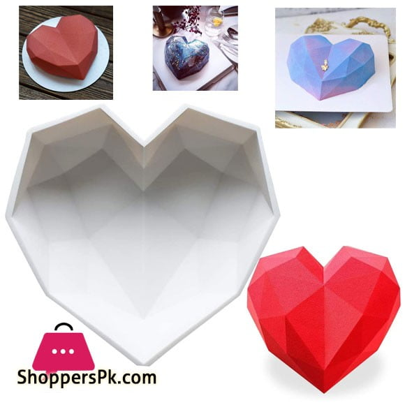 Diamond Heart Silicone Mold