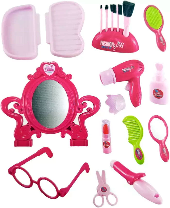 Dress-up Fashion Beauty Play Set for Girls Trolley Case