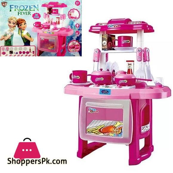 Frozen Kitchen Set with Light Music 35 Pcs