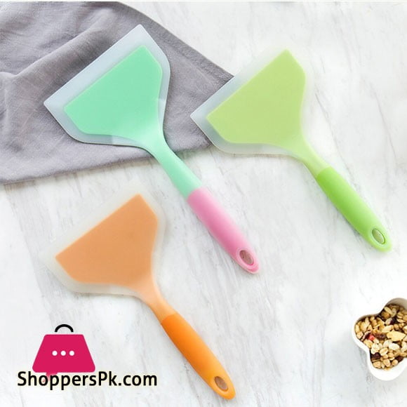 Heat Resistant Multifunction Non-stick Pan Silicone Cooking Spatula Turner Shovel Kitchen Cooking Utensils For Bakery Home Kitchen 1 Pcs