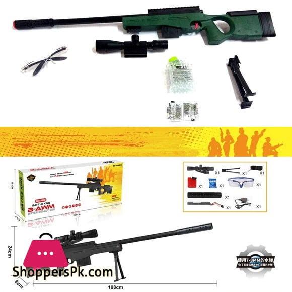 Kids High Grade Pub-B AWM Sniper Rifle Gun Toy Water Crystal Soft Balls Bullets - Play Toy Gun