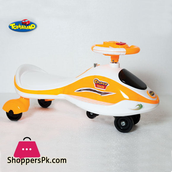 Buy Kids Toys Auto Walker Swing Car (Steering Drive) Orange Train at Best  Price in Pakistan
