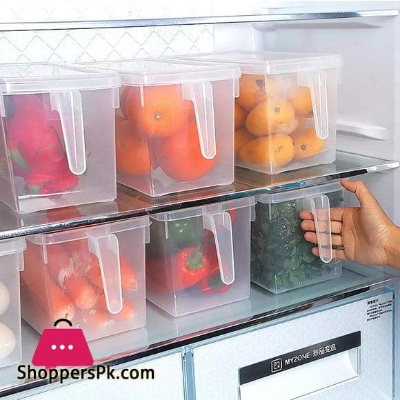 Kitchen Refrigerator Storage Box With Cover