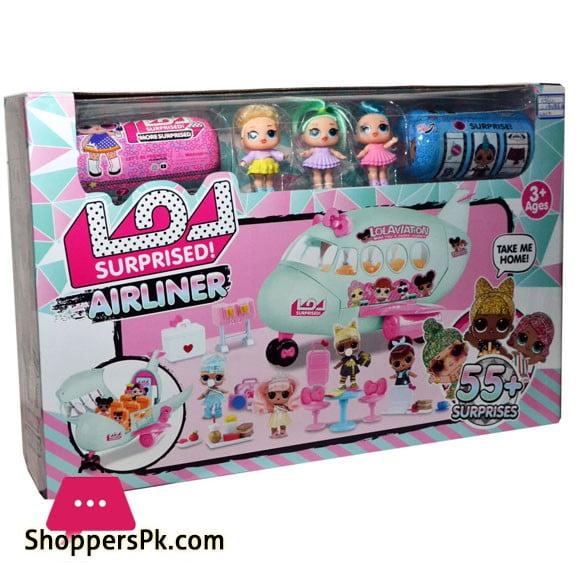 LOL AIRLINER LOL Passenger Plane 2 Dolls 3 Capsules 55+ Surprises