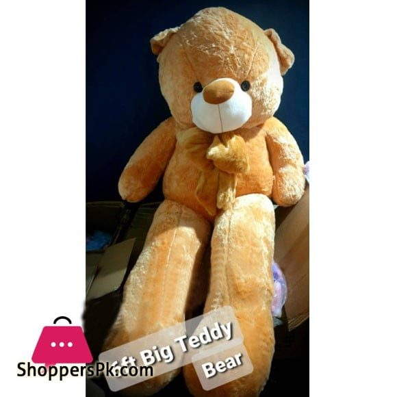 Large Stuff Teddy Bear with Frock 4-Feet 6FTXXL