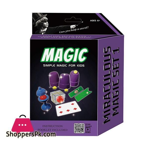 Magician Amazing Magic Set kids Play Fun Game Easy Learn Magic 5 Tricks 2557