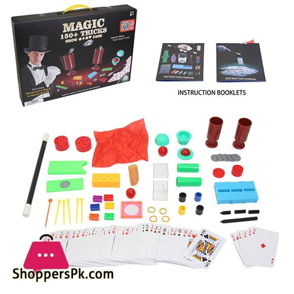 Magician Amazing Magic Set kids Play Fun Game Easy Learn Magic 150 Tricks 2566