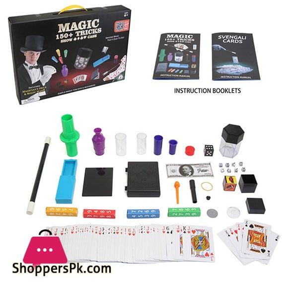 Magician Amazing Magic Set kids Play Fun Game Easy Learn Magic 150 Tricks