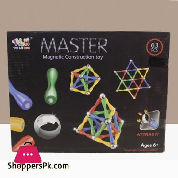 Master Magnetic Construction Building Blocks Set Toy 63 Pcs