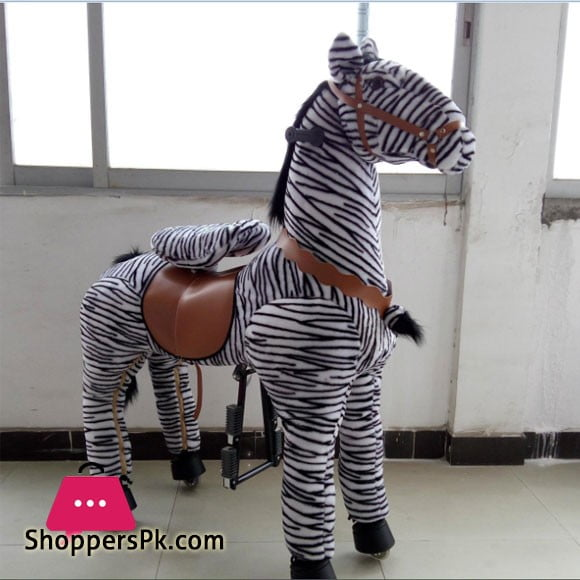 Pony Ride Ride On Rocking Cycle Zebra Medium 2-5 Years Kids