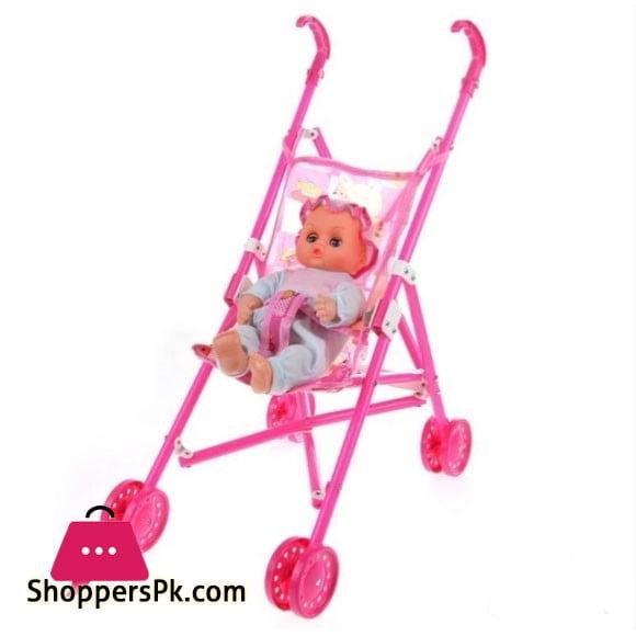 Pretty Girl Stroller with Doll