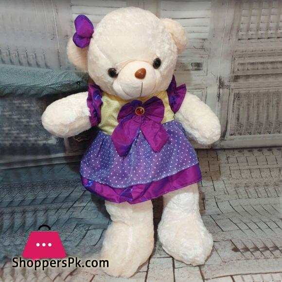 Large Stuff Teddy Bear with Frock 4-Feet 4FTBFRK