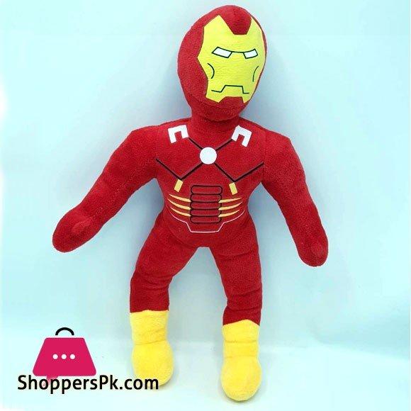 Stuffed Toy Superhero Stuff Plush Iron-Man For Kids - 12 Inch