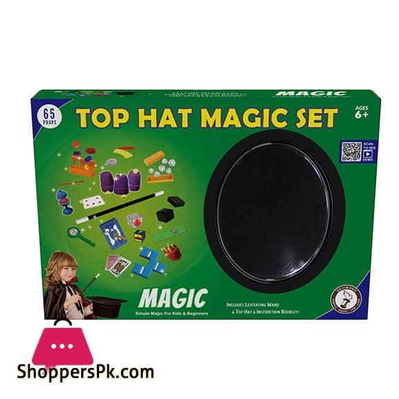 Top Hat Magic Set Magician Amazing Magic Set kids Play Fun Game Easy Learn Magic 65 Tricks 2529