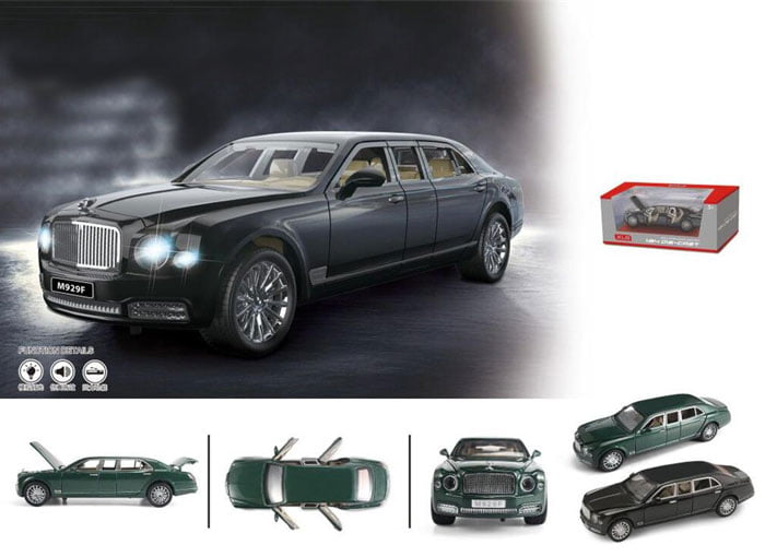 1:24 Scale Bentley Mulsane Grand Limousine Model Car Alloy Mmaterial with Light Opening Doors