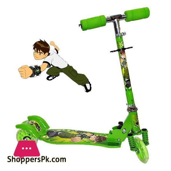 Ben-10 Three Wheel Scooty For Kids 3 to 10 Years Kids