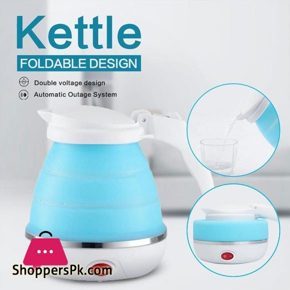 Electric kettle 0.6 L Folding Silicone Water Electric Kettle Camping Travel Tea Coffee Kettle