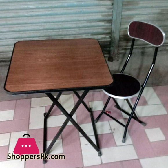 Folding Table and Chair 2 Pcs Set 2 x 2 Feet Table with Chair