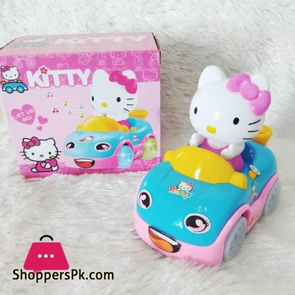 Hellokitty Car Toys with Light Music Bump