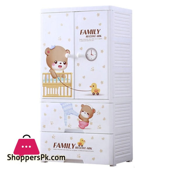 High Quality Baby Clothes Storage Wardrobe with 2 Drawer Cabinet