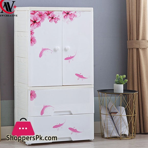 High Quality Baby Clothes Storage Wardrobe with 2 Drawer Cabinet - 9026006