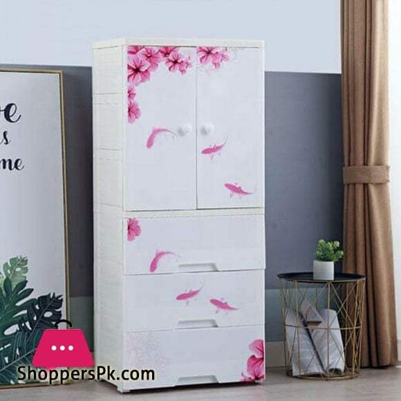 High Quality Baby Clothes Storage Wardrobe with 3 Drawer Cabinet - 9026007