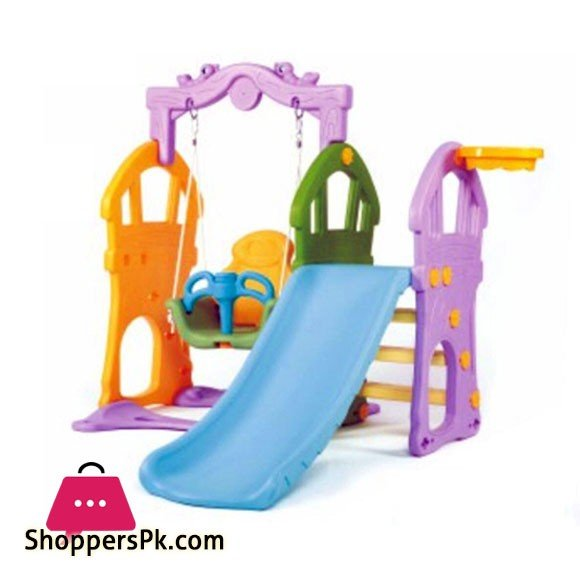 Home Indoor Kids Slide Swing Play Set Children Plastic Slide 6802