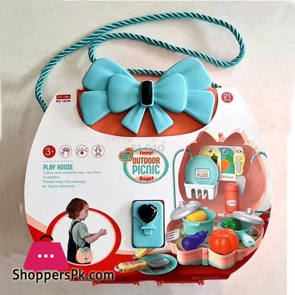 Kids Shoulder Bag Play Set Funny Outdoor Picnic Bag