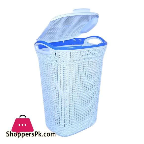 Knit Laundry Basket in Knitting Design