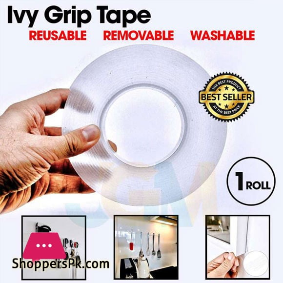 Magic Reusable Double Side PU Gel Tape IVY Grip Tape (1 Meter)