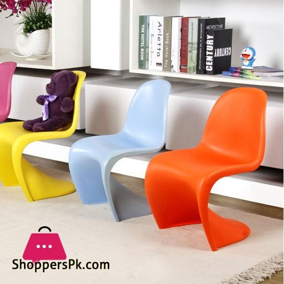 Modern Design S Shape Plastic Stackable Chair for Kids - 1 Pcs