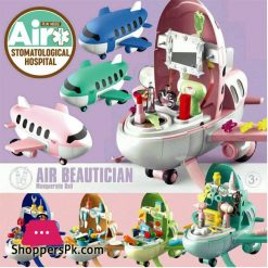 Pretend Play Kids Airplane 2 in 1 Kids Toys Air Doctor 30 Pcs Play Set