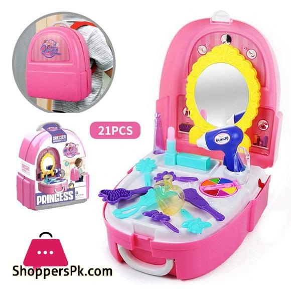 Pretend Play Kids Princess Dresser Play Set Backpack