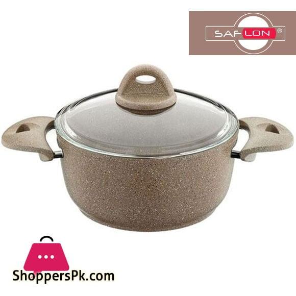 Saflon Deep Cooking Pot Granite Line - 20 cm 2.7 Liter