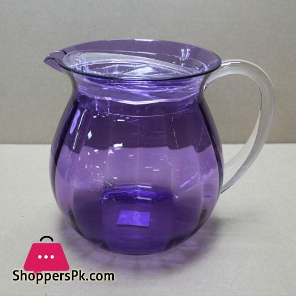 Snail Purple Acrylic Lassi Jug + Lid Made in Taiwan High Quality