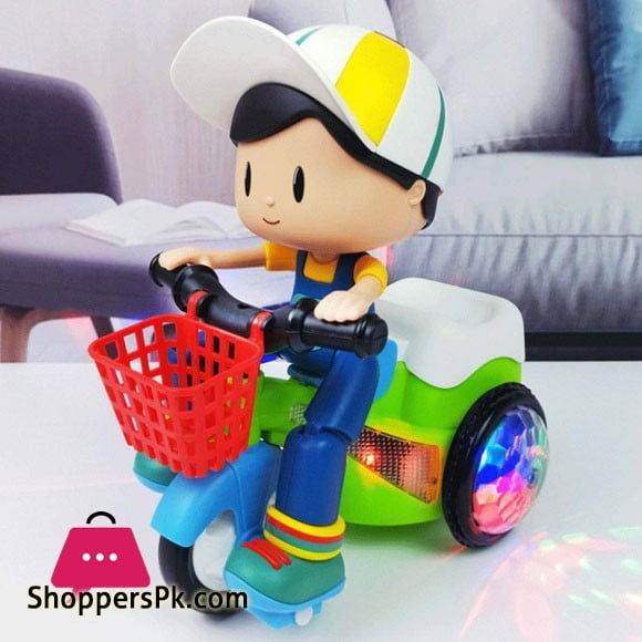Stunt Electric Tricycle Toy Car Lighting Effect 360 ° Rotating