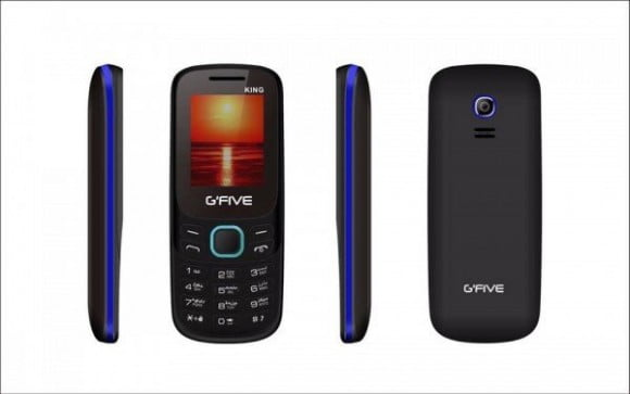 G'Five King Dual Sim - Black+Blue (Official Warranty)